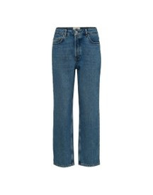 Selected High-waist Straight Fit Jeans Dames Blauw afbeelding