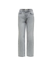 Selected High-waist Straight Fit Jeans Dames Grijs afbeelding