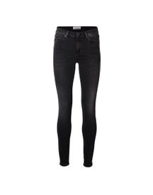 Selected Mid Rise - Slim Fit Jeans Dames Zwart afbeelding