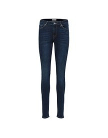 Selected Mid Waist - Skinny Jeans Dames Blauw afbeelding