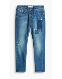 Esprit Destroyed Jeans Met Patches En Stretch Blue Medium Washed For Men afbeelding