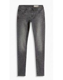 Esprit Skinny Jeans Met Veel Stretch Grey Medium Washed For Women afbeelding