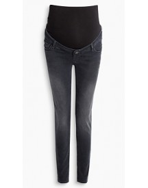 Esprit Stretchjeans Met Band Over De Buik Black Dark Washed For Women afbeelding