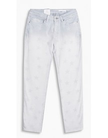 Esprit Stretchjeans Met Sterren Grey Light Washed For Women afbeelding
