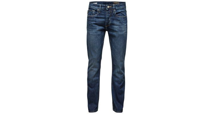 Image Jack & Jones Jjclark Original Straight Leg Jeans At 529