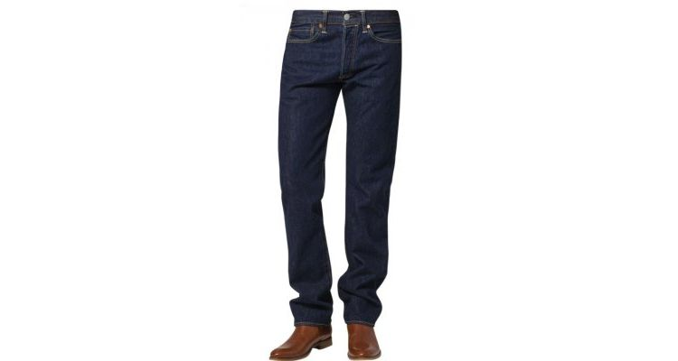 Image Levis® 501 Original Fit Straight Leg Jeans Darkblue Denim