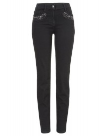 Brax Shakira Diamond Slim Fit Jeans Clean Black Black afbeelding
