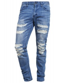 Brooklyn's Own By Rocawear Slim Fit Jeans Destroyed Denim afbeelding