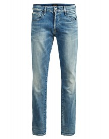 Jack & Jones Clark Icon Straight Leg Jeans Blue Denim afbeelding