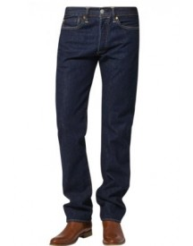 Levis® 501 Original Fit Straight Leg Jeans Darkblue Denim afbeelding