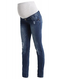 Mama Licious Mltropez Straight Leg Jeans Medium Blue Denim afbeelding