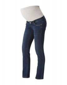 Mama Licious Straight Leg Jeans Medium Blue Denim afbeelding