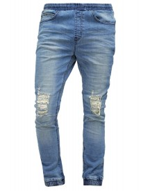 Nana Judy Relaxed Fit Jeans Mid Indigo Distressed afbeelding