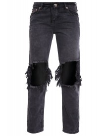 One Teaspoon Awesome Boyfriend Jeans Baslat Black afbeelding