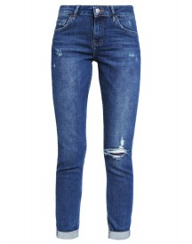 Topshop Lucas Relaxed Fit Jeans Darkstone afbeelding
