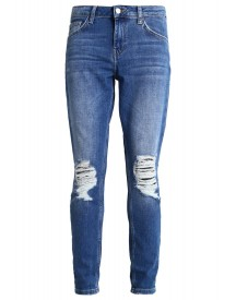 Topshop Lucas Relaxed Fit Jeans Middenim afbeelding
