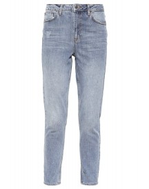 Topshop Mom Relaxed Fit Jeans Grey Denim afbeelding
