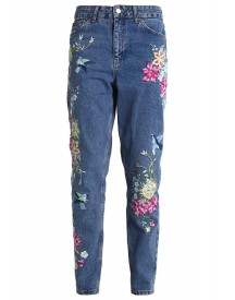 Topshop Mom Relaxed Fit Jeans Mid Denim afbeelding