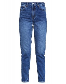 Topshop Mom Relaxed Fit Jeans Stone Blue Denim afbeelding