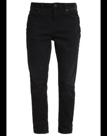 Topshop Petite Lucas Relaxed Fit Jeans Washedblack afbeelding