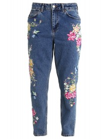 Topshop Petite Mom Relaxed Fit Jeans Middenim afbeelding