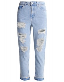 Topshop Srip Relaxed Fit Jeans Bleach afbeelding