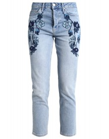 Topshop Straight Leg Jeans Blue afbeelding