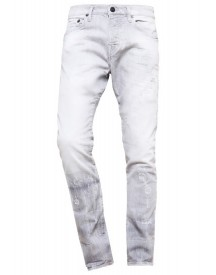 True Religion Rocco Slim Fit Jeans Grey Destroyed afbeelding