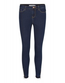 Vero Moda Vmseven Slim Fit Jeans Dark Blue Denim afbeelding