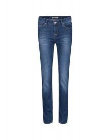We Fashion Straight Leg Jeans Dark Blue afbeelding