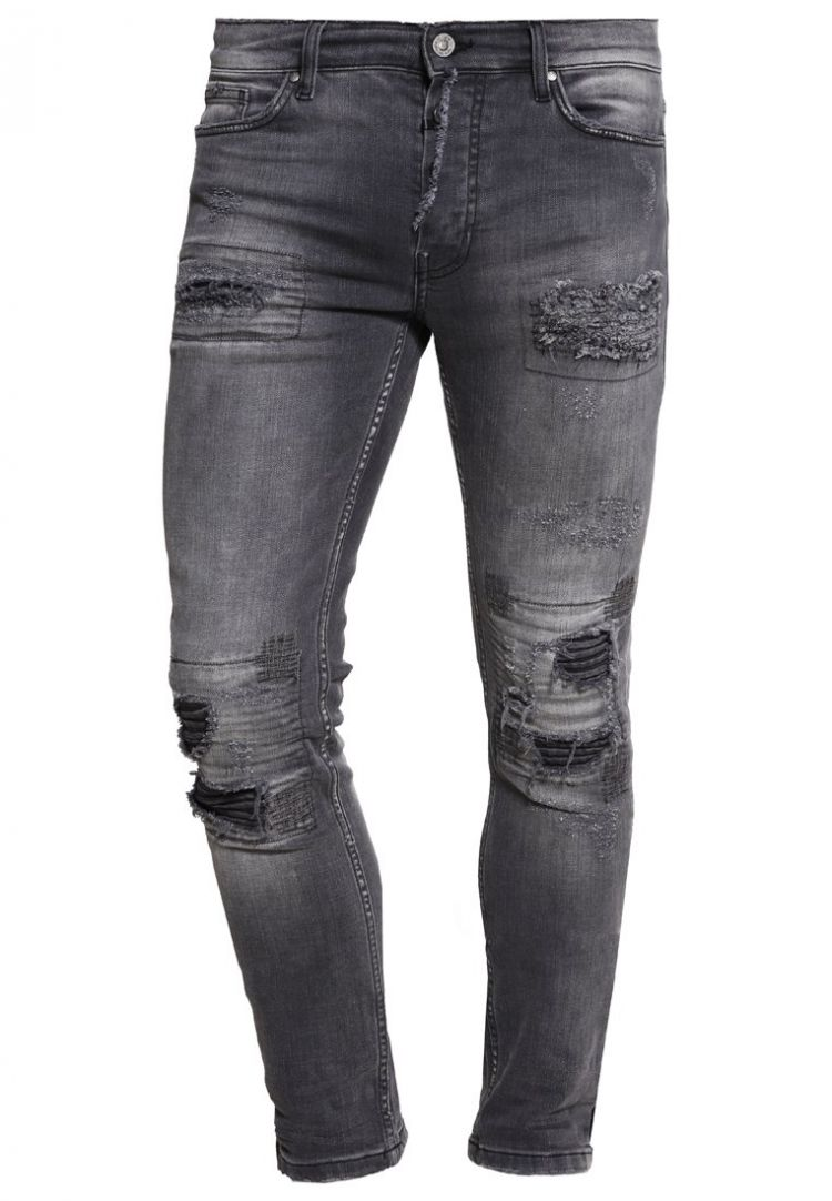 Image Tigha Clyde Straight Leg Jeans Grey