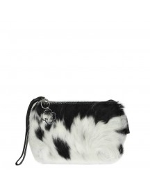 Chalrose Cow Click Clutch Black / White afbeelding