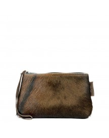 Chalrose Cow Click Clutch Various Brown afbeelding