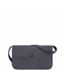 Fred De La Bretoniere Hand Buffed Leather Crossbody Small Dark Blue afbeelding