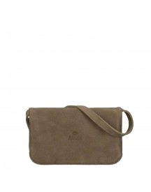 Fred De La Bretoniere Hand Buffed Leather Crossbody Small Olive afbeelding