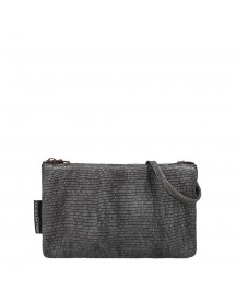 Fred De La Bretoniere Printed Leather Crossbody Bag Black afbeelding