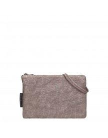 Fred De La Bretoniere Printed Leather Crossbody Bag Taupe afbeelding