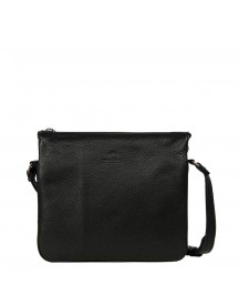 Fred De La Bretoniere Smooth Leather Shoulderbag Medium Black afbeelding