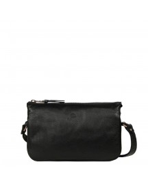 Fred De La Bretoniere Smooth Leather Shoulderbag Small Black afbeelding