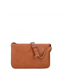 Fred De La Bretoniere Smooth Leather Shoulderbag Small Cognac afbeelding