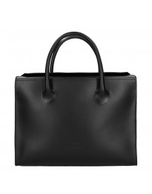 Fred De La Bretoniere Smooth Leather Workingbag Black afbeelding