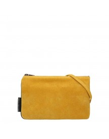 Fred De La Bretoniere Suede Crossbody Bag Mustard Yellow afbeelding