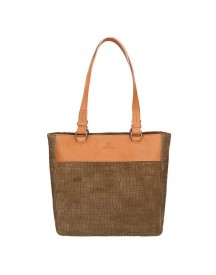 Fred De La Bretoniere Suede Shoppingbag Medium Taupe afbeelding