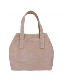 Fred De La Bretoniere Suede Shoulderbag Medium Beige afbeelding