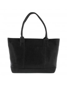 Plevier Crunch Leather Tote Laptoptas 14'' Black afbeelding