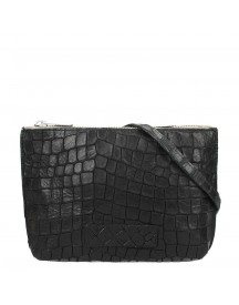 Shabbies Amsterdam Avirex Stampa Alligatore Crossbody Small Black afbeelding
