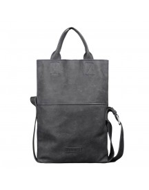 Shabbies Amsterdam Heavy Grain Leather Shoppingbag Black afbeelding