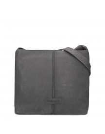 Shabbies Amsterdam Heavy Grain Leather Shoulderbag Medium Black afbeelding