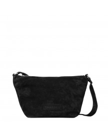 Shabbies Amsterdam Woven Suede Crossbody Small Off Black afbeelding