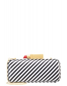 Lulu Guinness Carrie Clutch Black/white afbeelding